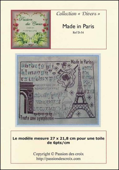 click here to view larger image of Made In Paris (chart)