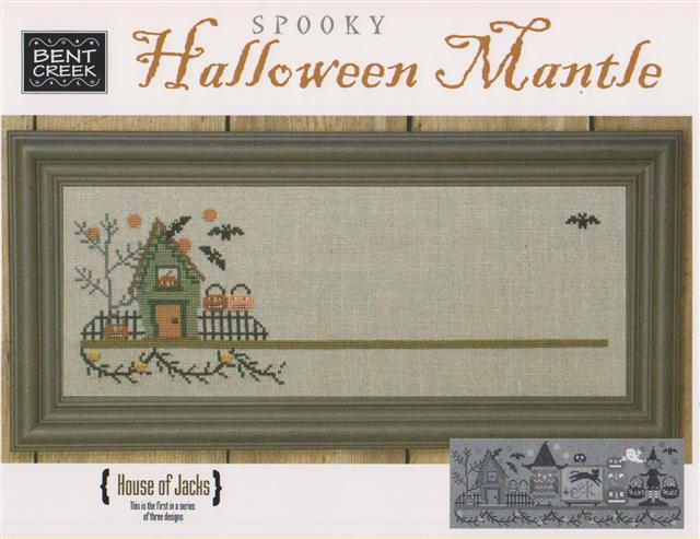 click here to view larger image of Spooky Halloween Mantle- House of Jacks (counted cross stitch kit)