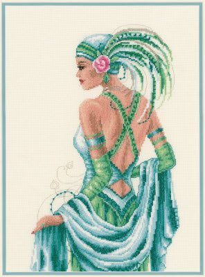 click here to view larger image of Green Deco (counted cross stitch kit)