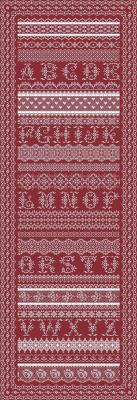 click here to view larger image of Antique Lace Band Sampler (chart)