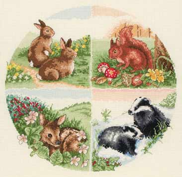 click here to view larger image of British Wildlife (counted cross stitch kit)