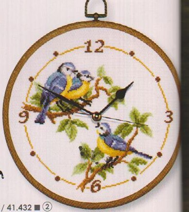 click here to view larger image of Bird Clock (counted cross stitch kit)