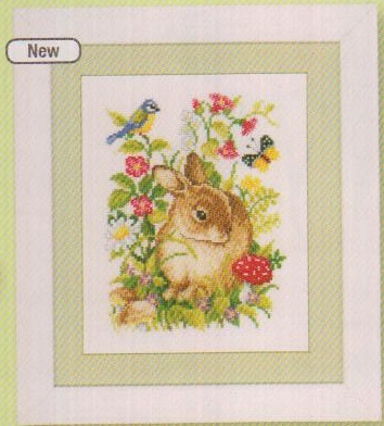 click here to view larger image of Bunny in the Hedgerow (counted cross stitch kit)