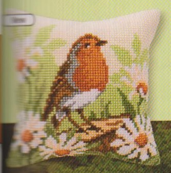 click here to view larger image of Bird Pillow (chunky cross stitch kit)