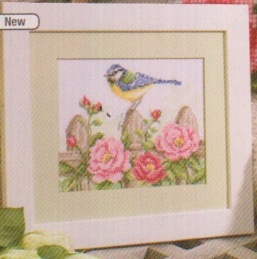 click here to view larger image of Bird and Roses (counted cross stitch kit)