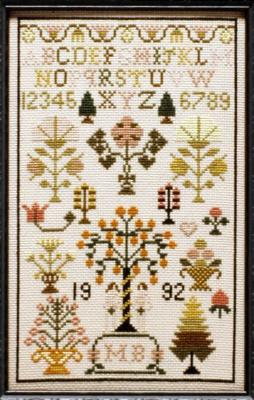 click here to view larger image of Adam and Eve Sampler (chart)