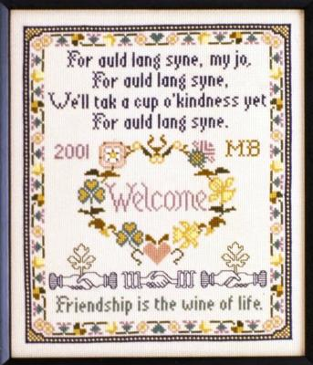 click here to view larger image of Auld Lang Syne Sampler (chart)