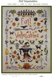 click here to view larger image of Fall Vegetables (chart)