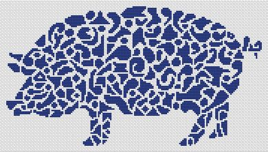 click here to view larger image of Tribal Pig (chart)