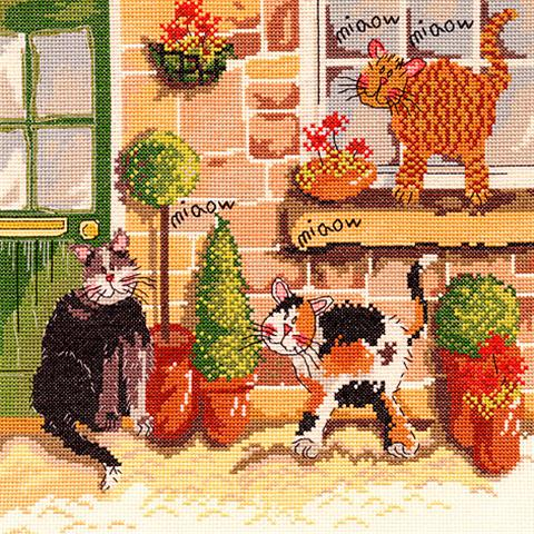 click here to view larger image of Cat's Chorus (Down on the Farm) (counted cross stitch kit)