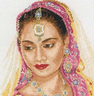 click here to view larger image of Asian Portrait (counted cross stitch kit)