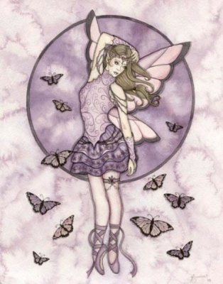 click here to view larger image of Butterfly Ballerina in Lavender (chart)