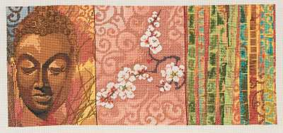 click here to view larger image of Buddha Panel (counted cross stitch kit)