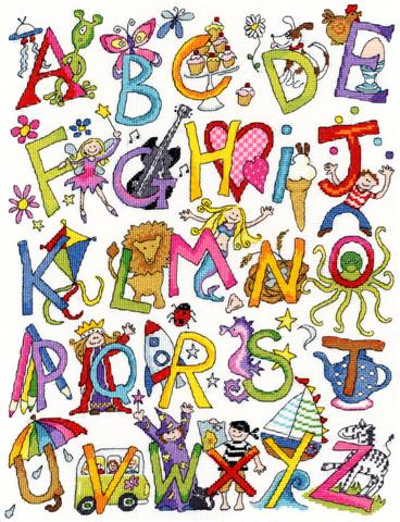 click here to view larger image of Alphabet Fun (counted cross stitch kit)
