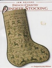 click here to view larger image of French Country Reindeer Stocking (chart)