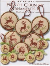 click here to view larger image of French Country Ornaments II - Reindeer (chart)