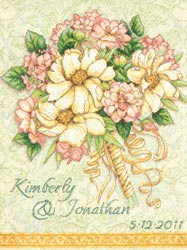click here to view larger image of Wedding Record Bouquet (counted cross stitch kit)