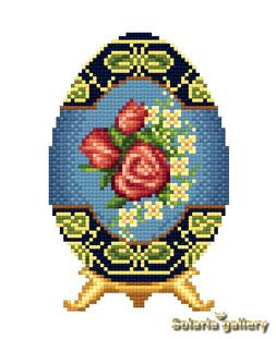 click here to view larger image of Easter Egg with Rose Motif (chart)
