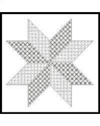 click here to view larger image of Blackwork Star (chart)