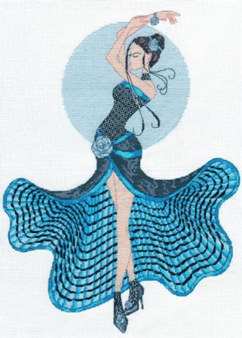 click here to view larger image of Elegant Ladies - Sea Green Salsa (counted cross stitch kit)