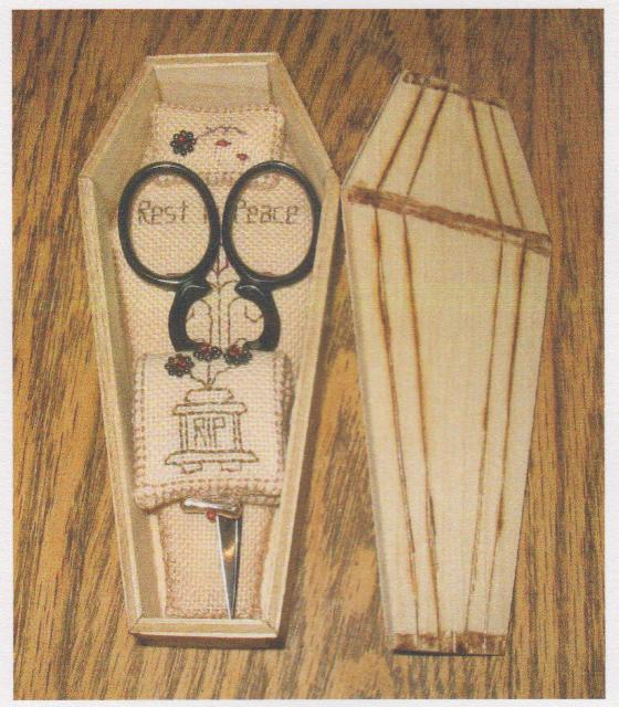 click here to view larger image of Coffin To Die For, A (Scissor Case) (counted cross stitch kit)