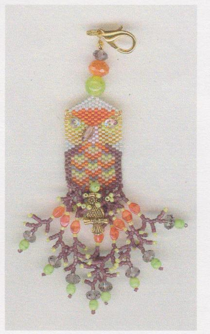 click here to view larger image of Owloween Scissor Fob (bead kit)