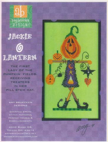 click here to view larger image of Jackie O Lantern (Includes Embellishments) (chart)