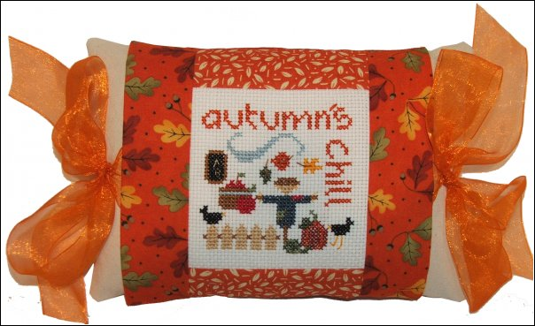 click here to view larger image of Autumn's Chill - Tie One On (counted cross stitch kit)