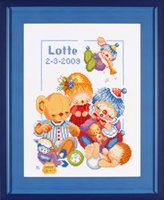 click here to view larger image of Birth Celebrations - Maria Van Scharrenburg - 27ct (counted cross stitch kit)