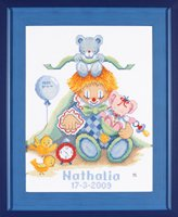 click here to view larger image of Birth Clown - Maria Van Scharrenburg - 27ct (counted cross stitch kit)