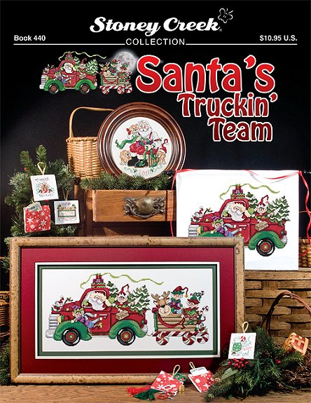 click here to view larger image of Santa's Truckin Team (book)
