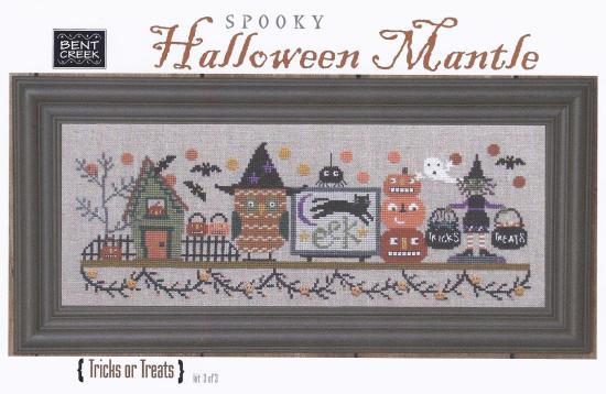 click here to view larger image of Spooky Halloween Mantle - Tricks or Treats (counted cross stitch kit)