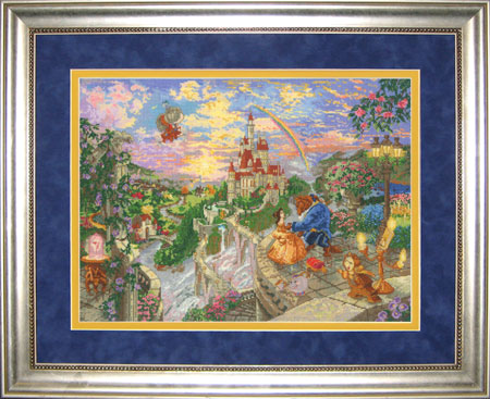 click here to view larger image of Beauty and The Beast 16x12 (counted cross stitch kit)