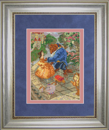click here to view larger image of Beauty and The Beast Vignette 5x7 (counted cross stitch kit)