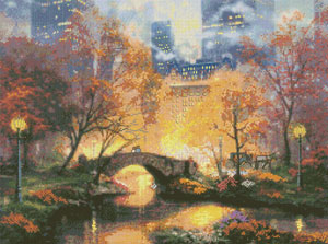 click here to view larger image of Central Park in the Fall (counted cross stitch kit)