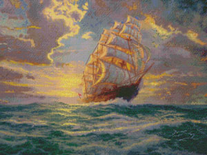 click here to view larger image of Courageous Voyage 16x12 (counted cross stitch kit)