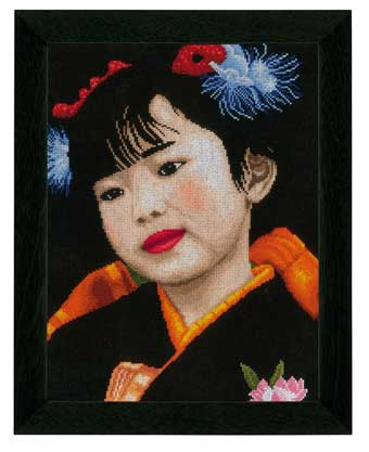 click here to view larger image of Japanese Girl (counted cross stitch kit)