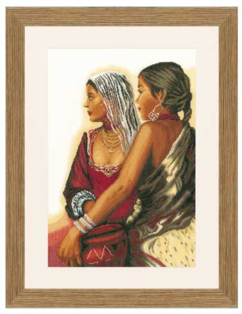 click here to view larger image of Two Women (counted cross stitch kit)