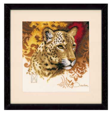 click here to view larger image of Cheetah (counted cross stitch kit)