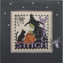 click here to view larger image of Stitch Witch - Charmed Wordplay (chart with charms/buttons)