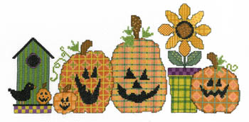 click here to view larger image of Fabric Pumpkins (chart)