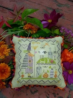 click here to view larger image of Creepy Pin Cushion (counted cross stitch kit)