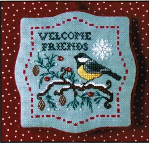 click here to view larger image of Chickdee Winter Welcome (counted cross stitch kit)