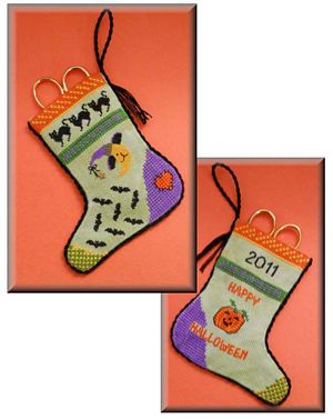 click here to view larger image of Halloween Stocking Scissor Pocket (chart)