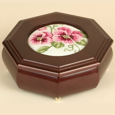 click here to view larger image of Octagonal Jewelry Box - Mahogany (accessory)