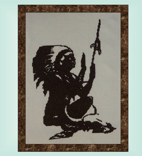 click here to view larger image of Indian at Prayer Silhouette (chart)