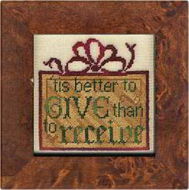 click here to view larger image of Better To Give - 40ct  Silk Gauze Included (chart with charms/buttons)