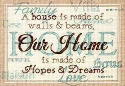 click here to view larger image of Home (counted cross stitch kit)
