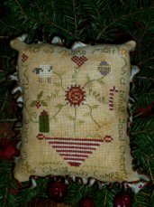 click here to view larger image of Good Cheer Pin Cushion (counted cross stitch kit)