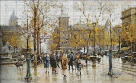 click here to view larger image of Autumn Parisian Scene (chart)
